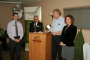 The 2012 Innovatie Community Organization Award went to Boundary Country Regional Chamber of Commerce. The award was accepted by executive director Sarah Winton. Photo Erin Perkins.